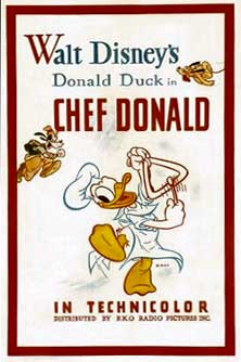 donald cuistot Walt Disney Animation poster affiche donald chef