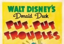 donald ennui Walt Disney Animation poster affiche donald tut troubles