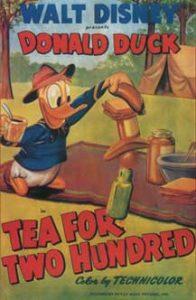donald fourmi tea for two hundred Walt Disney Animation studio Disney poster affiche