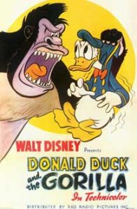 donald gorille Walt Disney Animation studio Disney poster affiche