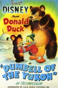 donald grand nord Walt Disney Animation poster affiche donald dumbell yukon