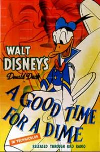 donald kermesse Walt Disney Animation poster affiche donald good time dime