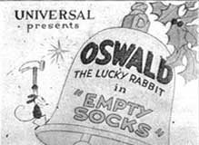 empty socks Walt Disney Animation poster affiche oswald