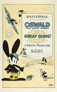 great guns Walt Disney Animation poster affiche oswald