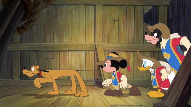 image Mickey Donald Goofy dingo trois mousquetaires Three Musketeers disney