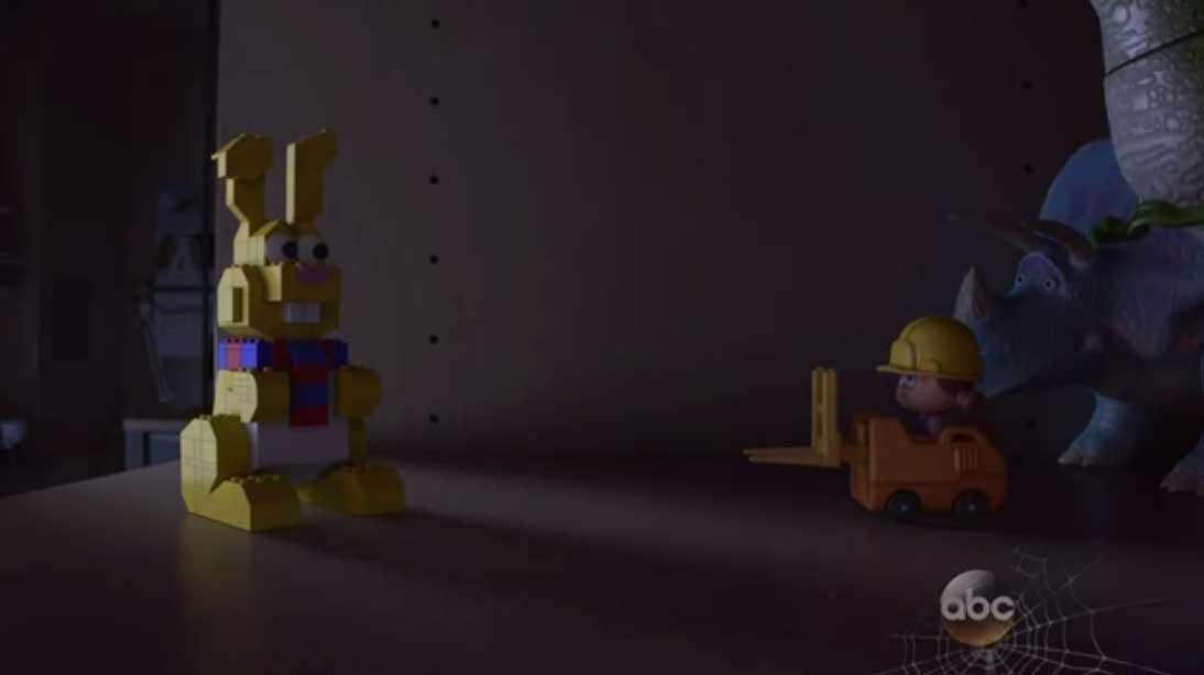 lapin lego disney pixar toy story angoisse motel terror