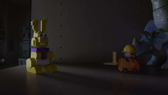 lapin rabbit lego personnage character toy story angoisse motel terror disney pixar