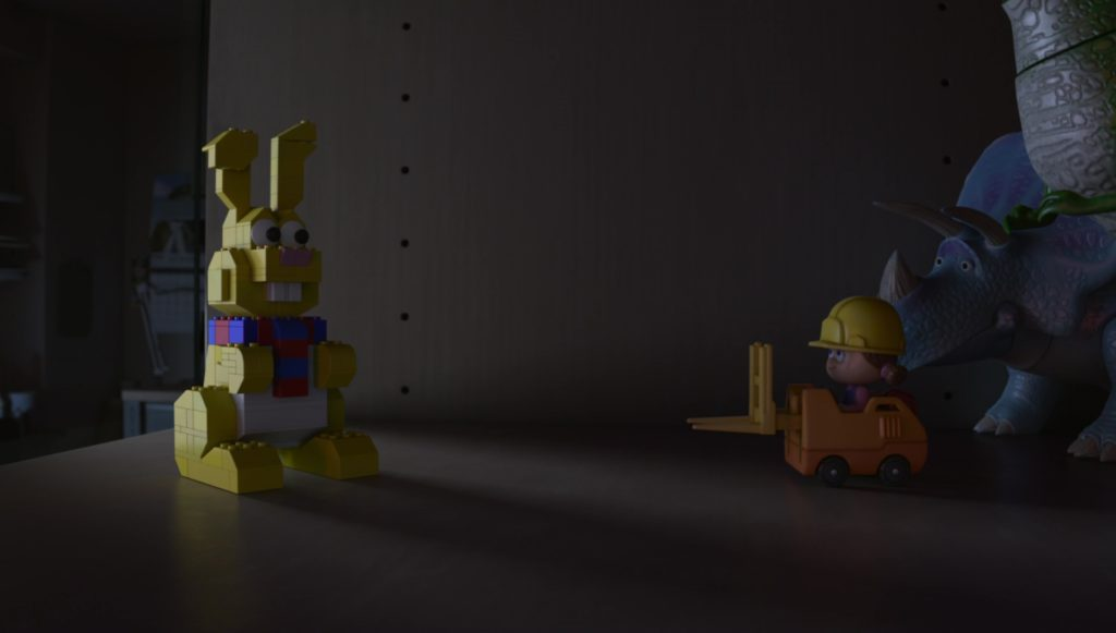 lapin lego bunny   personnage character pixar disney toy story angoisse motel terror
