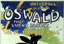 ol swhimmin hole Walt Disney Animation poster affiche oswald