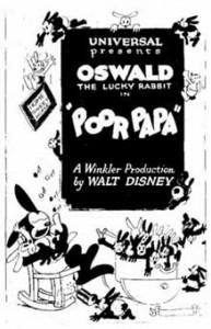 poor papa Walt Disney Animation poster affiche oswald
