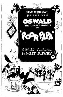 poor papa Walt Disney Animation poster affiche oswald