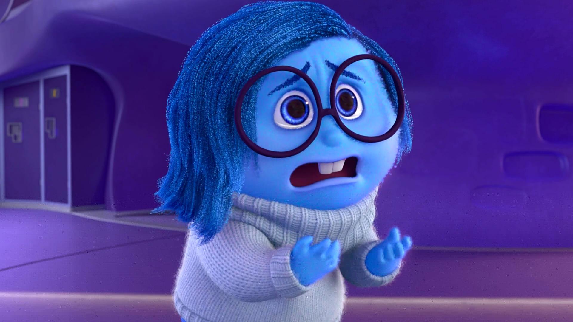 """Tristesse personnage dans """"Vice Versa"""" Pixar Planet Fr"""