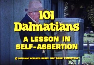 affiche poster 101 dalmatians lesson self assertion disney