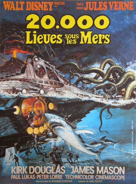 Affiche Poster 20 000 lieues sous mers leagues under sea disney