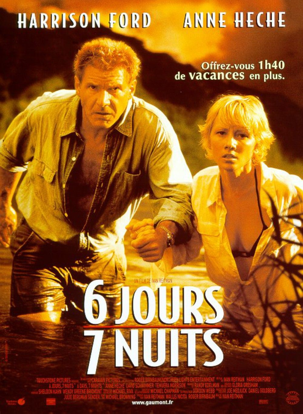 Affiche Poster 6 jours 7 nuits six days seven nights disney touchstone