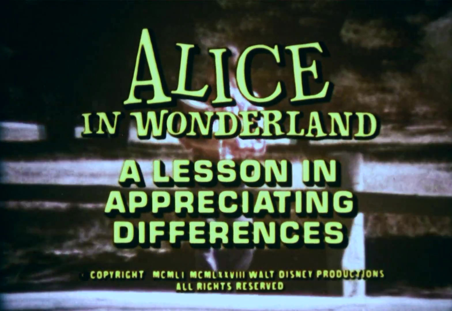 affiche poster alice wonderland lesson appreciating differences disney