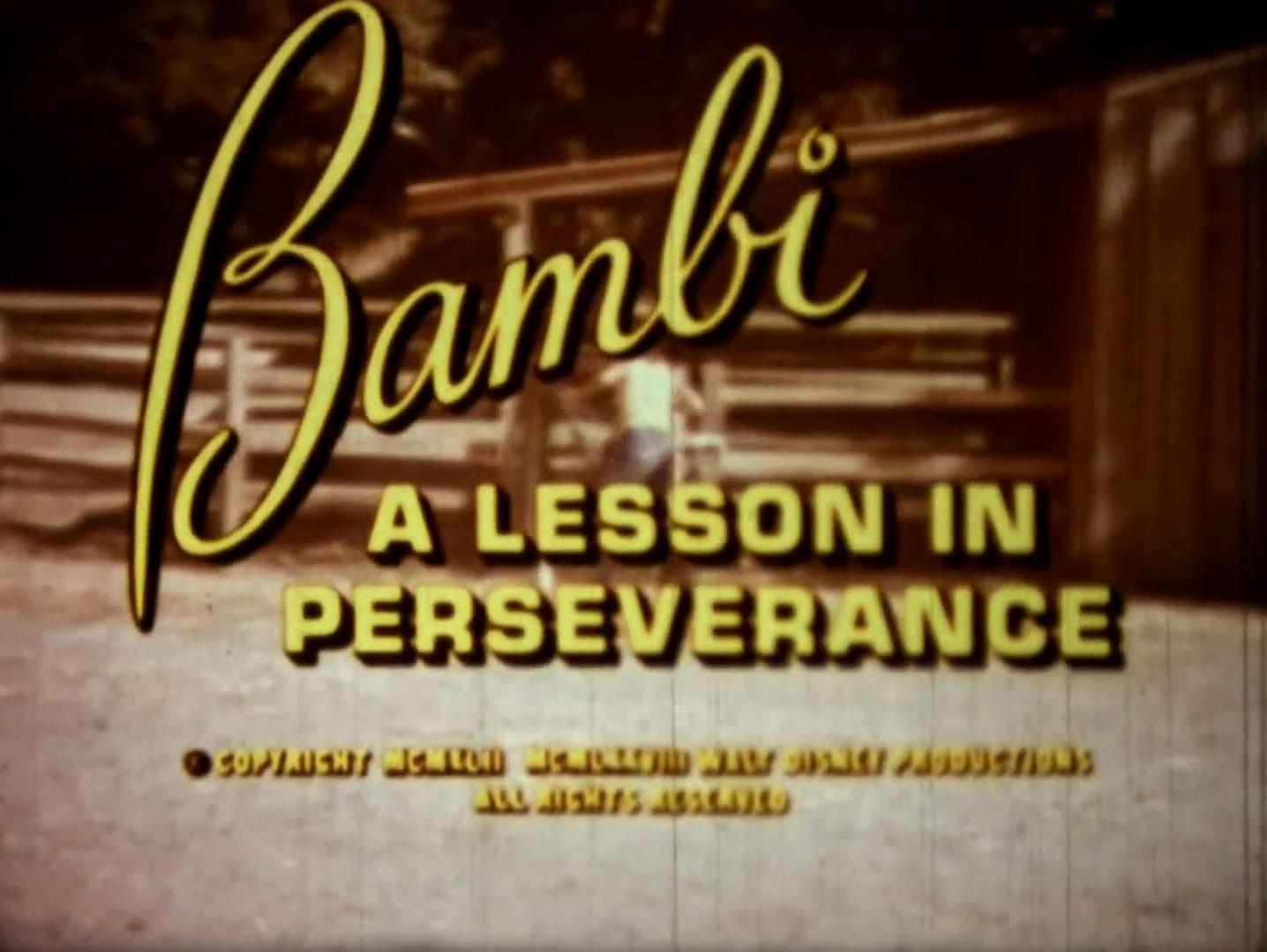 affiche poster bambi lesson perserverance disney