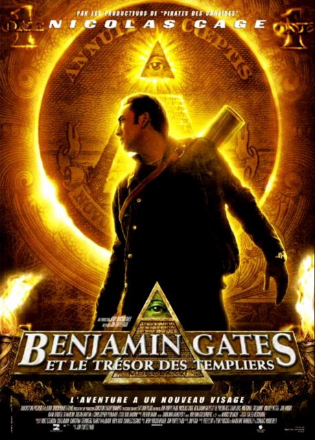 Affiche Poster Benjamin Gates trésor templiers National Treasure Disney