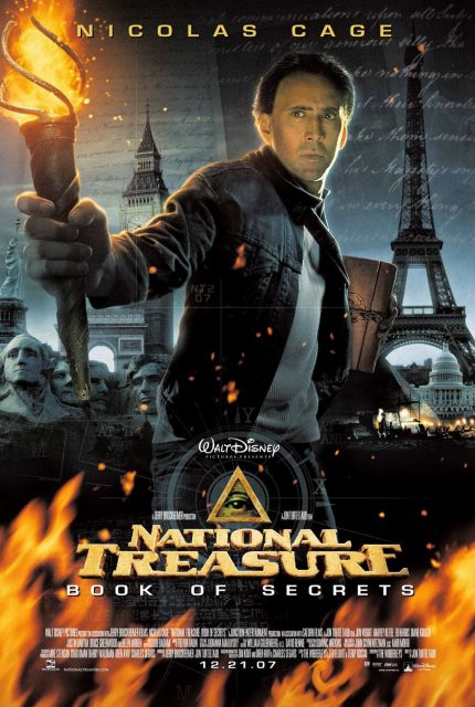 Affiche Poster Benjamin Gates Livre secret book National Treasure Disney