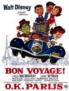 Affiche Poster bon voyage disney