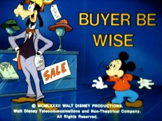 affiche poster buyer be wise disney