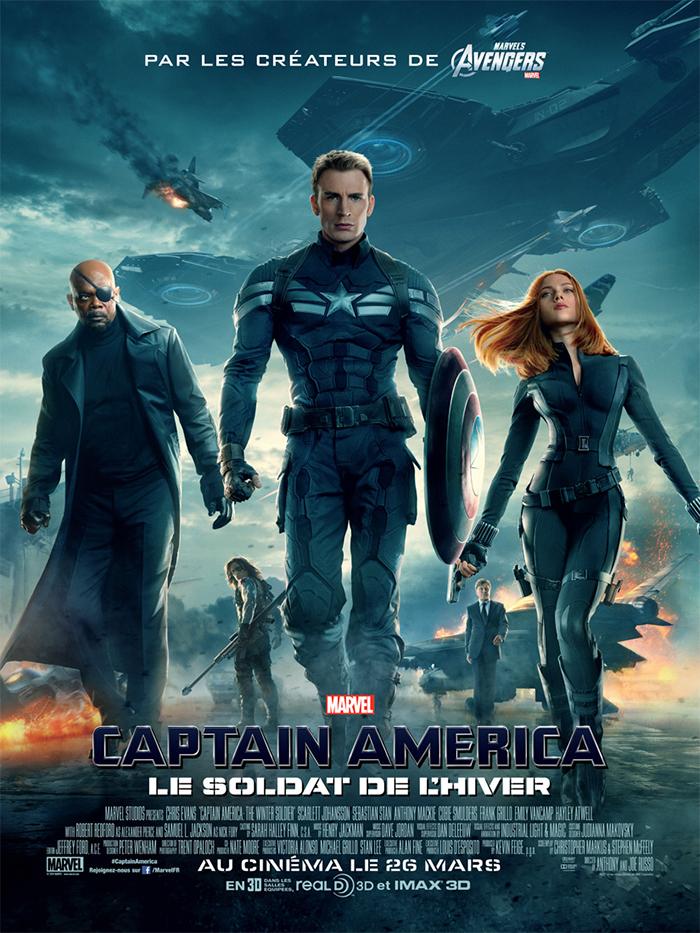 Marvel Disney poster affiche-captain-america-2