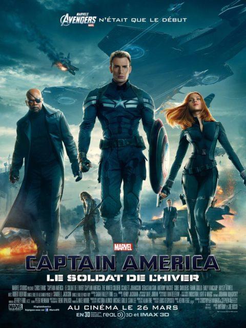 Affiche Poster Captain America Soldat Hiver Winter Soldier Disney Marvel