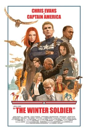 Affiche Poster Captain America Soldat Hiver Winter Soldier Disney Marvel