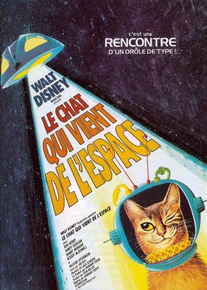 Affiche Poster chat vient espace cat outer space disney