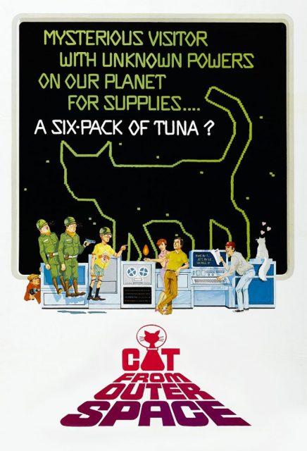 Affiche Poster chat vient espace cat outer space disney