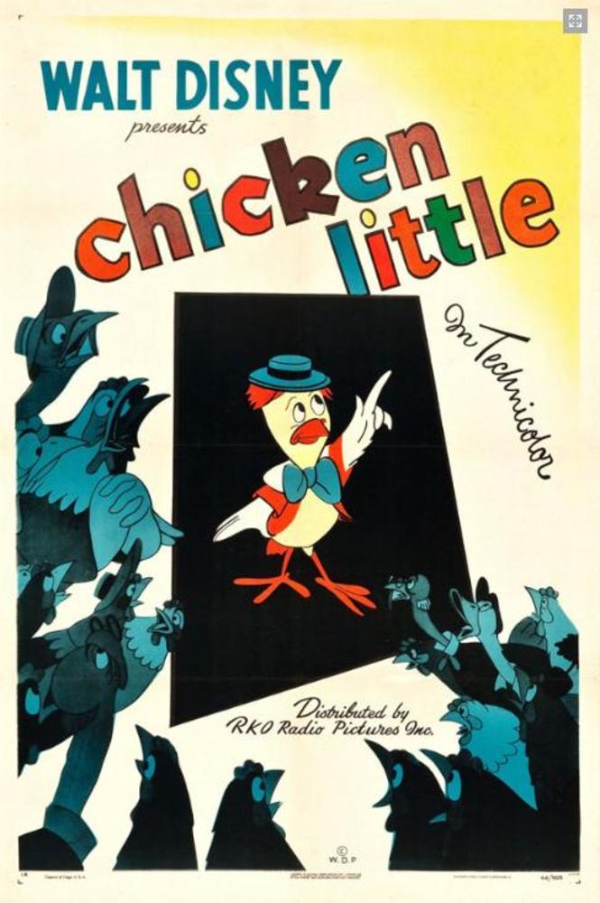 affiche poster chicken little court disney