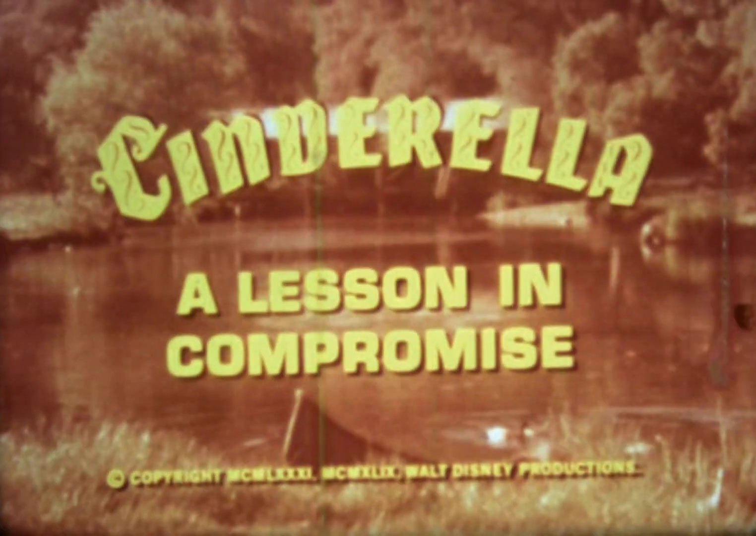 affiche poster cinderella lesson compromise disney