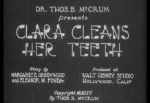 Disney affiche-clara-clean-teeth