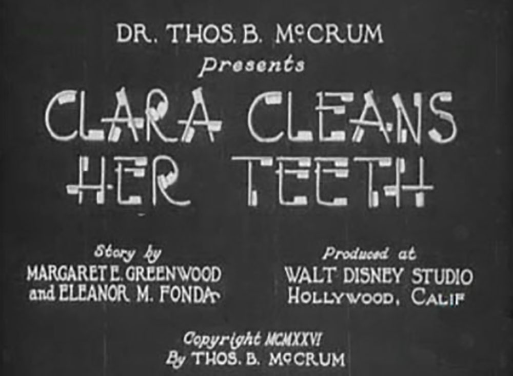 affiche poster clara cleans teeth disney