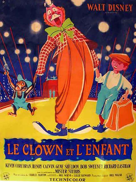 Affiche Poster clown enfant toby tyler disney