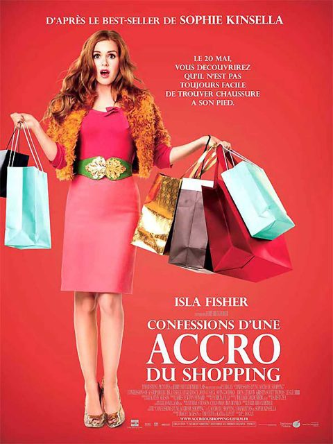 Affiche Poster confessions accro shopping Shopaholic disney touchstone