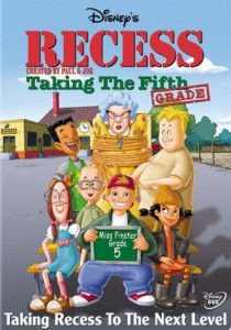 affiche cour recre rentree classe superieure poster recess taking fifth grade walt disney television animation
