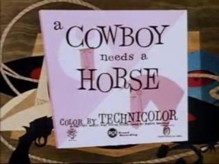 affiche poster cowboy needs horse disney