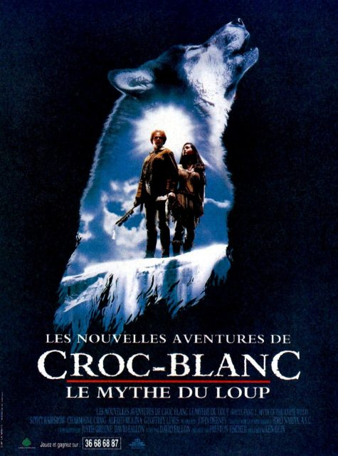 Affiche Poster croc blanc 2 mythe loup blanc White Fang 2 Myth White Wolf disney