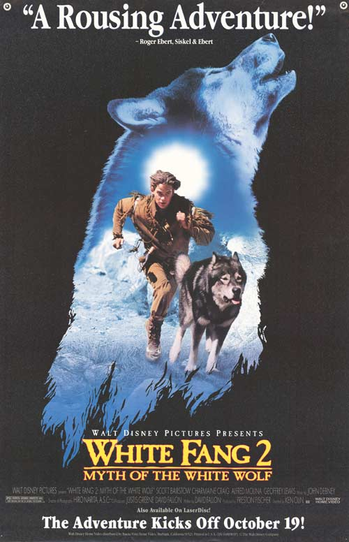 Affiche Poster croc blanc 2 mythe loup blanc White Fang 2 Myth White Wolf disney