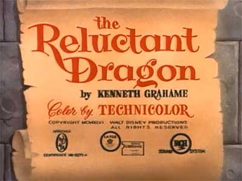 affiche poster dragon récalcitrant reluctant disney