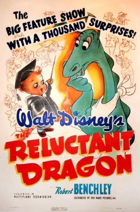 Affiche Le dragon récalcitrant Disney Poster The reluctant