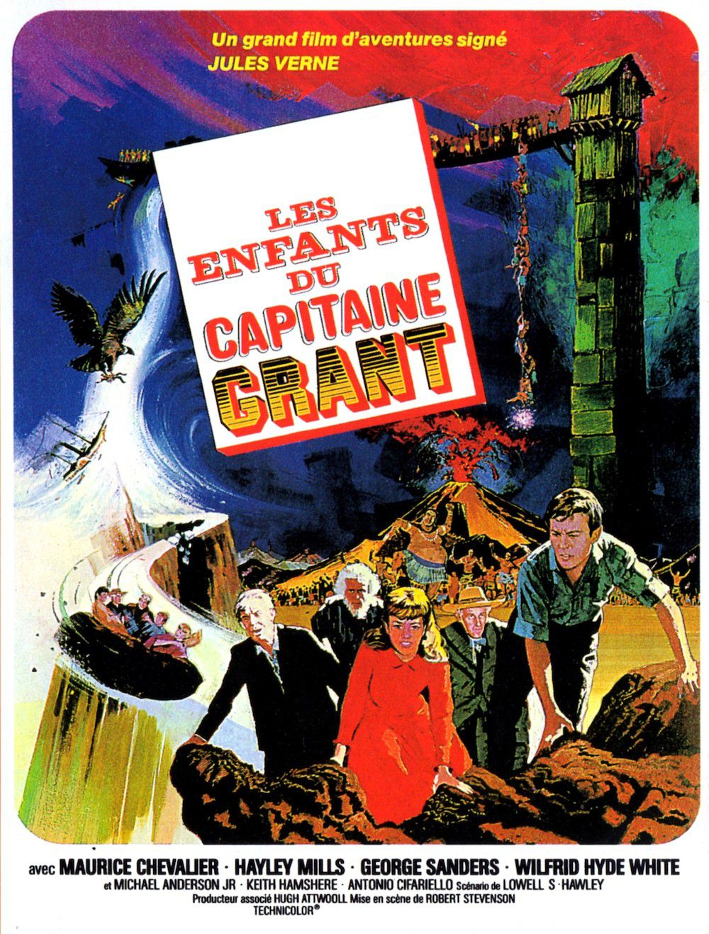 Affiche poster enfants capitaine grant search Castaways disney