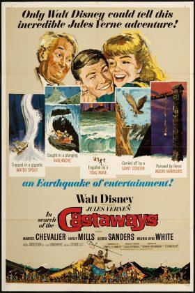 Affiche poster enfants capitaine grant search Castaways disney