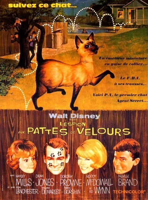 Affiche Poster espion pattes velours darn cat disney