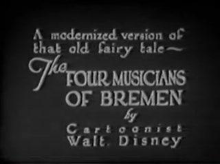 affiche poster four musicians bremen disney