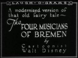 Disney Laugh-O-Grams affiche four musicians bremen