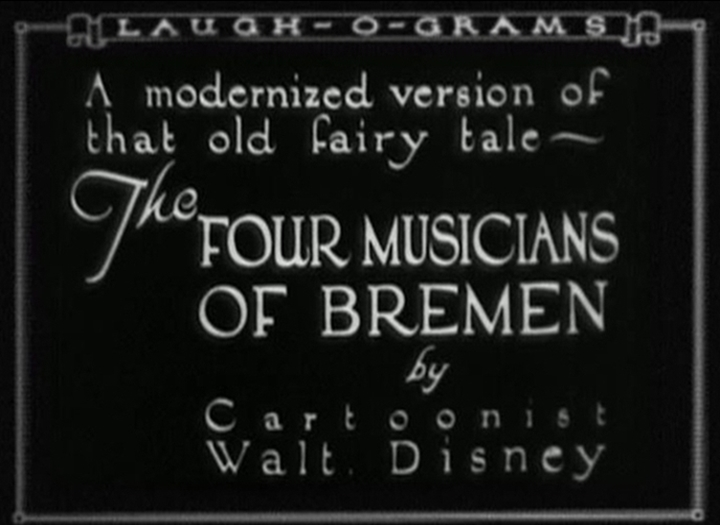 Disney Laugh-O-Grams affiche four musicians bremen