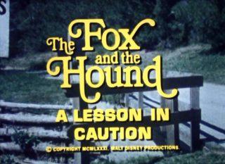 affiche poster fox hound lesson caution disney