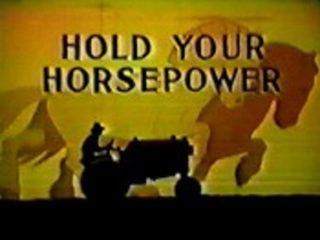 affiche poster hold horsepower disney